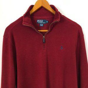 POLO RALPH LAUREN Men Cotton XL Burgundy Sweater